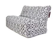 Double upholstered fabric garden armchair SOFA SEAT DELUXE - Pusku pusku