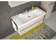 Wall-mounted vanity unit with drawers SOHO S8 - LEGNOBAGNO