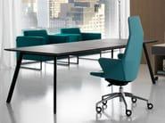 Contemporary style sectional leather executive desk SOHO | Office desk - Quinti Sedute