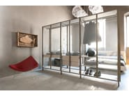 Glass walk-in wardrobe SOLO | Walk-in wardrobe - ALBED by Delmonte