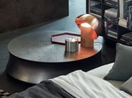 Low round coffee table for living room SOORI - Poliform