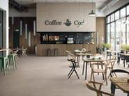Full-body porcelain stoneware wall/floor tiles with resin effect SPATULA Lino - Italgraniti