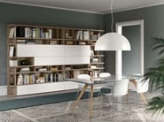 Freestanding lacquered bookcase SPAZIOTECA | Bookcase - PIANCA