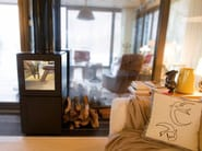 Wood-burning modular fireplace with remote control SPEETBOX BY STARCK - SPEETA