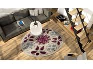Round silk rug SPIRALE - ITALY DREAM DESIGN - Kallisté