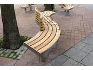Panchina curva con schienale SPLINE TREE | Panchina con schienale - Factory Street Furniture