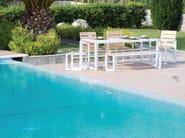 Sled base garden chair with armrests SPRING | Aluminium garden chair - Efasma