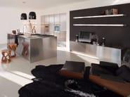 Cucina in acciaio inox con isola SQUARE INOX SCOTCH-BRITE - Xera by Arex