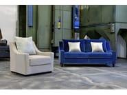 Upholstered leather armchair ST53 | Armchair - Domingo Salotti