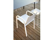 Stackable polyurethane garden chair with armrests STACK SYSTEM CHAIR 3 - GANDIA BLASCO