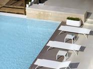 Stackable square aluminium garden side table STACK | Square coffee table - GANDIA BLASCO