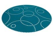 Solid-color felt rug STAMP | Round rug - HEY-SIGN