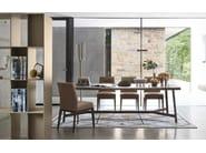 Rectangular wood veneer table STATUS - Calligaris