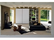Tanned leather wardrobe with sliding doors STELO CUOIO - Silenia