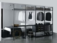 Contemporary style sectional custom wood-product walk-in wardrobe STORAGE | Walk-in wardrobe - Porro