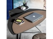 Tanned leather secretary desk STORM - Cattelan Italia