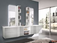 Double wall-mounted vanity unit with mirror STR8 ALDANY - GRUPPO GEROMIN