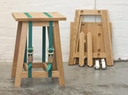 Sgabello in quercia STRAP STOOL - Vij5