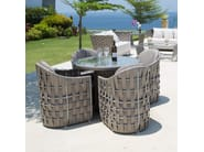 Tavolo da giardino rotondo per contract STRIPS 23213 - SKYLINE design