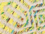 Sgabello basso in tessuto SUNSET YELLOW | Sgabello basso - KARE-DESIGN