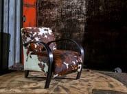 Cowhide armchair with armrests SYLPHIDE | Cowhide armchair - Canapés Duvivier