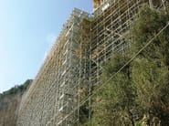 Tubular structure and scaffolding Scaffolding with tube and joints - Condor
