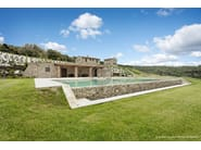 In-Ground natural stone swimming pool Swimming pool 1 - Garden House Lazzerini