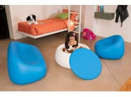 Small garden table low round Polyethylene T BALL - PLUST Collection by euro3plast