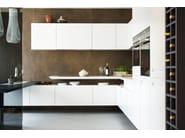 Kitchen with peninsula T30 | Corian® kitchen - TM Italia Cucine