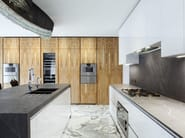 Kitchen with island T30 | Natural stone kitchen - TM Italia Cucine