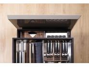 Kitchen with peninsula T45 | Hideaway kitchen - TM Italia Cucine