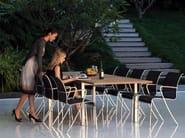 Extending rectangular teak garden table TABOELA | Extending table - ROYAL BOTANIA