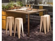 Solid wood stool TABOURET - ESTEL GROUP