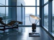 Indirect light glass and aluminium table lamp TACCIA - FLOS