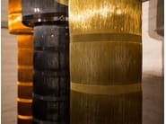Metallic fabric floor lamp TAMARI | Floor lamp - Placidia
