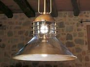 Direct-indirect light brass pendant lamp TAMER - Aldo Bernardi