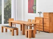 Extending solid wood table TAURUS | Table - vitamin design