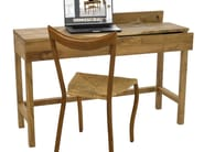 Solid wood secretary desk TEAK DESK SOLID - Pols Potten