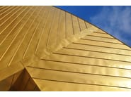 Metal sheet and panel for roof / Metal sheet and panel for facade TECU® Gold - KME Architectural Solutions