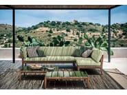 Low teak garden side table TEKA | Rectangular coffee table - RODA