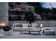 Low teak garden side table TEKA | Square coffee table - RODA