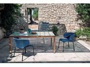 Rectangular teak garden table TEKA | Table - RODA