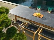 Extending rectangular HPL garden table TEKURA | Extending table - Les jardins