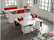 Sectional rectangular workstation desk TEN UP OPERATIVE - Sinetica Industries