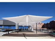 Square aluminium Garden umbrella TENSILATION - TYPE EV - MDT-tex
