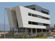 Insulated metal panel for facade TERMOPARETI® WPM/C-FN - ELCOM SYSTEM