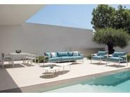Upholstered 3 seater garden sofa TERRAMARE | 3 seater sofa - EMU Group