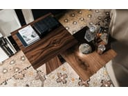 Square walnut coffee table THEO - Cattelan Italia
