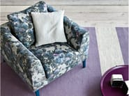 Upholstered fabric armchair with armrests TIME | Armchair - PIANCA