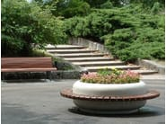 Round Bench with Integrated Planter TIMELESS COMBINED 1220/1620 - Bellitalia